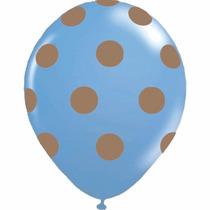 Kit C/ 100 Balão Bexiga N10 Azul Marrom Balloontech