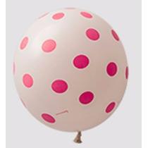 Kit C/ 25 Balão Bexiga N9 Poas Branca E Rosa Sao Roque