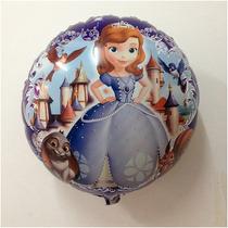 Balão Metalizado Bexiga Princesa Sofia Gás ( Kit 10 Unid)