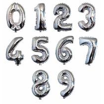 Balão Metalizado Dourado Ou Prata Números E Letras 40 Cm