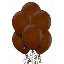 Balões São Roque N° 9 Marrom Café Pacote Com 50 Bexigas