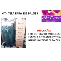Kit Tela Preta Para 336 Balões + Brinde. Provençal, Pds,tdb