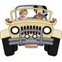Placa Jipe Mickey Safari Personalizada Enfeite Parede Festa