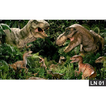 Jurassic Park Dinossauro Painel 3m² Lona Banner Aniversario