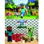 Kit Display De Chão Minecraft 10 Peças + Painel 2,00x1,40m
