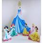 Princesas Cenario De Chão E Mesa,display,festa Infantil,mdf