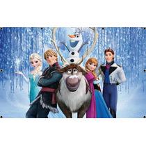 Painel De Festa Infantil 2x1,3 Super Oferta! Frozen E Outros