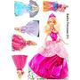Barbie Princesas Kits Displays Mdf 6 Mm Decoração Festa Inf
