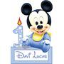 1 Display Mickey Baby Centro Mesa Enfeite Festa Decoração