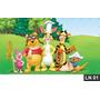 Pooh Puff Painel 3m² Lona Festa Banner Aniversario Decoração