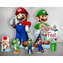 Super Mario Bross Cenario De Chão E Mesa,display,festa ,mdf