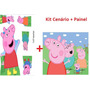 Kit Cenario Em Mdf+painel 2,00x1,00 Peppa