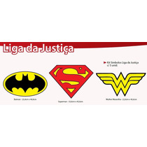 Kit Logos Painel Decorativo Para Festa Liga Da Justiça