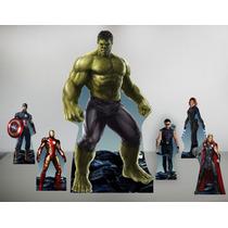 Vingadores Hulk Cenario Chão E Mesa,display,mdf , Festa,