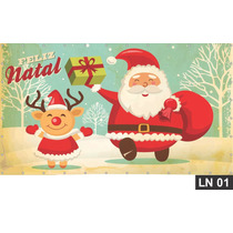 Natal Cristo Papai Noel Painel 2,00x1,00m Lona Festa Comemor