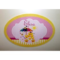 Placa Personalizada Painel Ursinhos Carinhosos Enfeite Festa