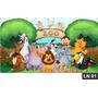 Zoo Zoológico Animais Painel 3m² Lona Festa Aniversários
