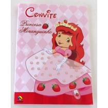 Convite Aniversario Princesa Moranguinho (10 Unidades)