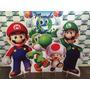 Kit Cenário Display De Chão Mario Bross 8 Peças.