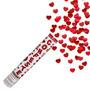 Lança Confete Coração Metalizado - 8 Metros - Mundo Bizarro