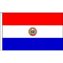 Bandeira De Paraguai - Premium Satin Tabela 22.5x 15cm Pole