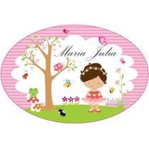 1 Placa Painel Personalizada Jardim Encantado Parede Elípse