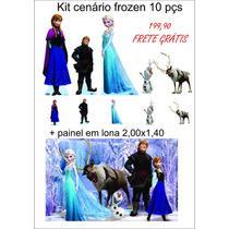 Kit Cenario Display Frozen 10 Peças Mais Painel 2,00x1,40
