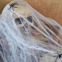 Kit C/ 50 Teia De Aranha Decoração Halloween/homem Aranha