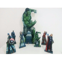 Hulk Vingadores Kit Displays Mdf 3 Mm Toten Festa Infantil