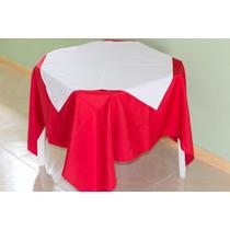 Kit 10 Toalhas De Mesa Oxford Com Sobre Toalha