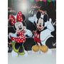 1 Minnie E 1 Mickey Display De Chão 80cm + 2 De Mesa Grátis.