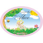 1 Placa Personalizada Tema Jardim Encantado Enfeite Festa