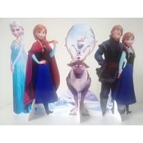 Display Frozen Totem Painel Cenário Mesa 3 Itens