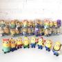 Festa Infantil Enfeite Mesa Decoração Minions Borracha C.108