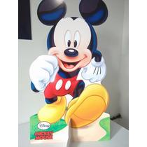 Kit Display De Chão Mickey Totem Painel Cenário 5 Peças