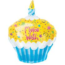 """Balão Cupcake - Faça Um Desejo - 01 Unidade - 18"""" Po"""