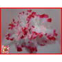 Estola Grossa Branca De Pontas Vermelhas Festa Casamento