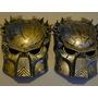 Novo !!!!!! Kit Com 02 Mascaras Predator Prata & Dourada