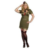 Fantasia Feminina Capitã Exército Tam Especial Importada
