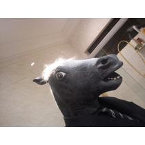 Mascara Cabeça Cavalo Corcel Negro Pronta Entrega No Brasil