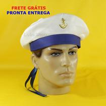 Quepe Marinheiro Fita Azul / Chapéu Militar Frete Grátis