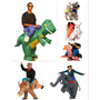 Fantasia Inflável Cowboy Dinossauro Avestruz Vários Modelos
