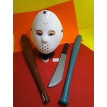 Mascara Jason Sexta Feira 13 Bastão Porrete Facão