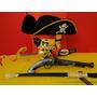Jack Sparrow Fantasia Pirata Arma Com Cinturão Espada