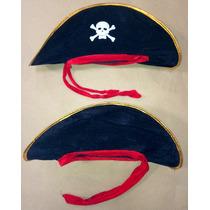Chapeu Pirata Com Fita Vermelha