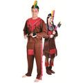 Fantasia De Casal Índio Americano Completa Para Festa