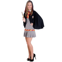 Fantasia Hermione Teen (harry Potter) Completa C/ Capuz