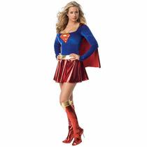 Fantasia Super - Homem Super Girl Feminina - Pronta Entrega