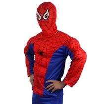 Fantasia Homem Aranha Adulta Completa (com Musculos) Xxxl