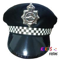 Chapéu Quepe Policial Fantasias Festas Cosplay